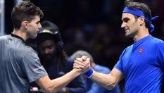 Tennis, Atp Finals: Federer si riscatta, travolto Thiem