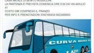 Ultrà della Lazio in trasferta a Predappio: 50 euro per far visita a casa Mussolini