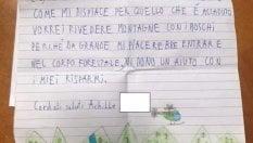 """La lettera di Achille, 9 anni, dopo il maltempo: """"Vi dono i miei risparmi, rivoglio le montagne"""""""