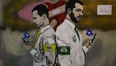 Salvini e Di Maio in un nuovo murale:l'amore tra i due, stavolta, è finito
