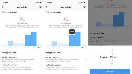 Instagram attiva il contatore che ti dice quanto tempo ci passi