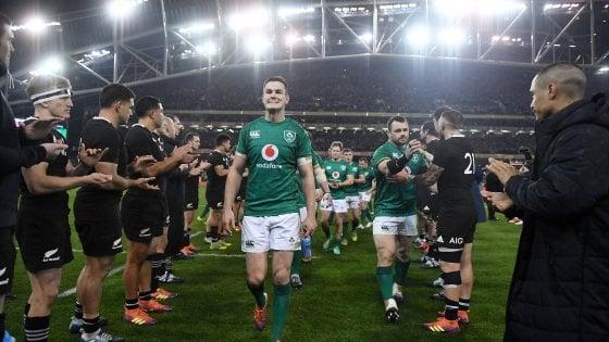 Rugby, Irlanda fa festa: battuti gli All Blacks