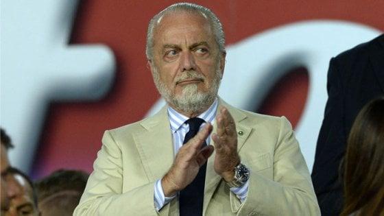 Napoli, De Laurentiis: ''Col fatturato della Juve avrei vinto 10 scudetti''