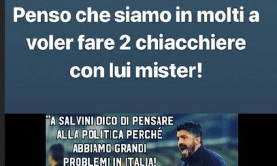 """Balotelli sta con Gattuso: """"Salvini? Siamo in molti a voler fare due chiacchere con lui"""""""