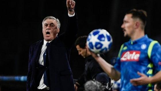 """Napoli, Ancelotti: """"A Liverpool per vincere, niente calcoli"""""""