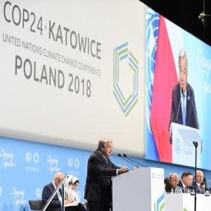 """Cop24, riscaldamento globale la sfida dei leader. Ma per Guterres """"il mondo è fuori rotta"""""""