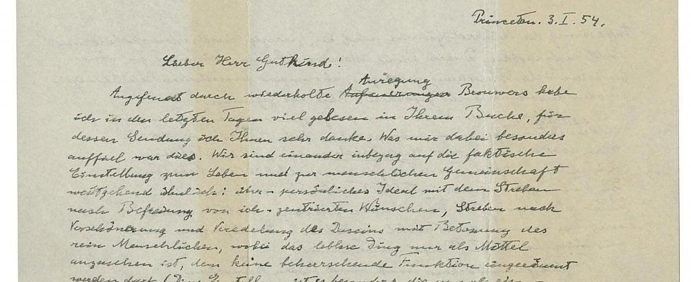 """Si riaffaccia all'asta la """"Lettera su Dio"""" di Einstein"""