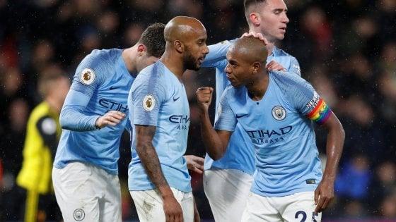 Premier: il Manchester City non rallenta, Watford battuto con Sane e Mahrez
