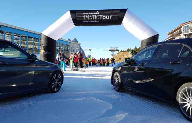 Mercedes, al via il 4Matic Tour 2018