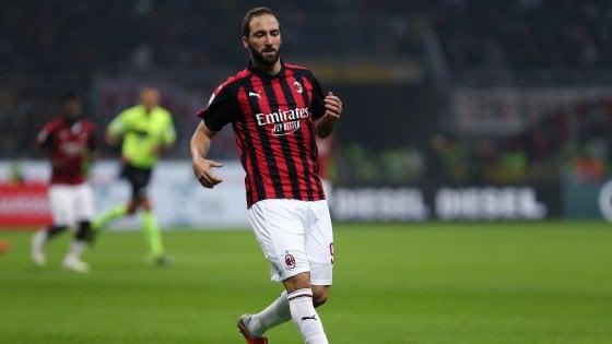 Milan, Higuain più forte del mal di schiena: contro il Torino ci sarà