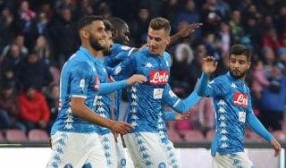 Napoli-Frosinone 4-0, azzurri sul velluto: gol di Zielinski, Ounas e doppietta Milik