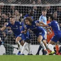 Premier League, Chelsea-Manchester City 2-0: Sarri batte Guardiola