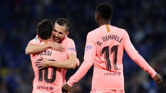 Liga, Messi trascina il Barcellona. Frena il Siviglia, tris Atletico