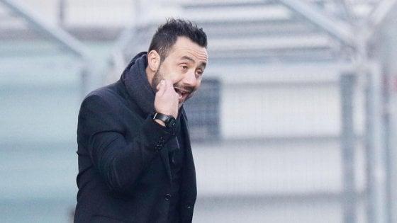 """Sassuolo, De Zerbi: """"Avremmo meritato di vincere, è mancata anche la fortuna"""""""