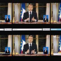 """Francia, Macron rompe il silenzio sui gilet gialli: """"Misure profonde, collera è giusta"""""""