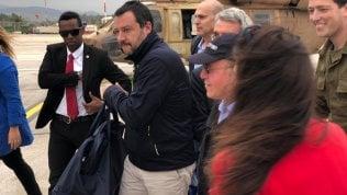 """Salvini visita i tunnel di Hezbollah e parla di terroristi islamici. Difesa: """"Ora preoccupati"""" video dal nostro inviato CARMELO LOPAPA"""