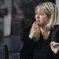 Champions, Inter eliminata: le lacrime di Wanda Nara al fischio finale