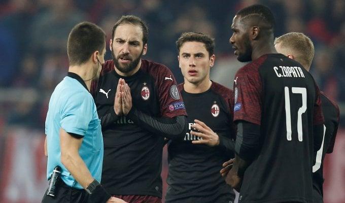 Olympiacos-Milan 3-1, rossoneri fuori dall'Europa League