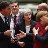 Brexit, l'accordo non cambia: May a Bruxelles raccoglie solo briciole
