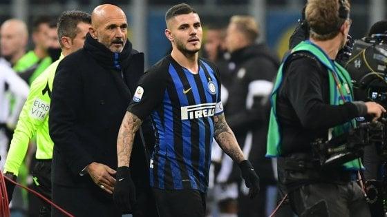 Inter, Spalletti: ''Icardi è perfetto''. E l'argentino: ''Rinnovo? Ci pensa Wanda''