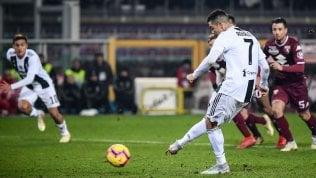 Torino-Juventus 0-1: Ronaldo decide su rigore