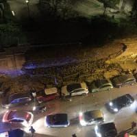Crollato nella notte un lungo muro in centro a Roma: