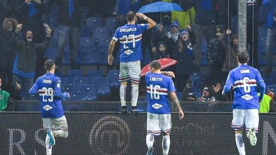 Sampdoria-Parma 2-0: Caprari e Quagliarella, i doriani vedono la Champions