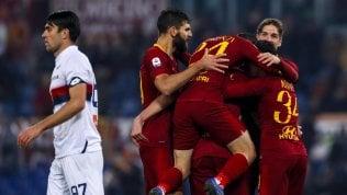 Roma, errori e reazioneGenoa battuto 3-2Il Napoli non molla91' Milik: 0-1 a Cagliari