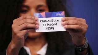 Sorteggio ottavi Champions league, la Juve trova l'Atletico Madrid. La Roma pesca il Porto