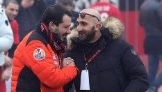 Salvini da ultrà Milan, polemiche per 'abbraccio' col capo tifoso condannato per spaccio