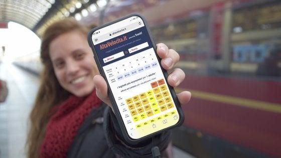 Alta velocità, un'app ti dice quando Frecce e Italo costano meno