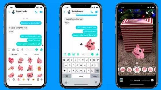Messenger lancia Boomerang, modalità ritratto e sticker trid