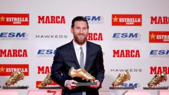 Messi, quinta Scarpa d'oro: ''Barcellona miglior club del mondo''