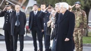 Megalizzi, Mattarella accoglie la salma di Antonio a Ciampino. Giovedì i funerali a Trento video
