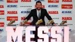 Messi, quinta Scarpa d'oro: ''Barcellona miglior club''