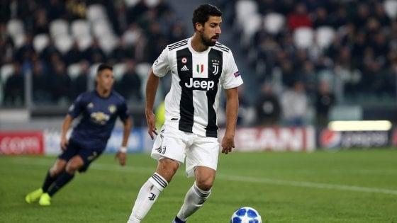 Juventus, Khedira torna in gruppo e punta la Roma