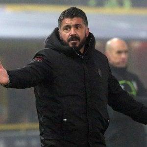 """Bologna-Milan, Gattuso critico: """"Simo stati mediocri"""""""