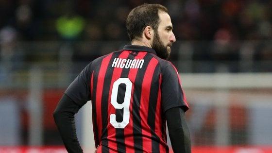 Milan, Gattuso alle prese col caso Higuain: non segna da due mesi