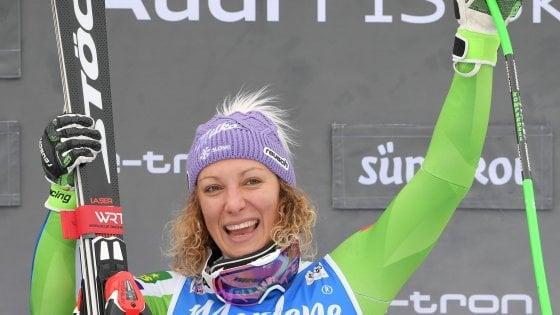 Sci, bis della Stuhec in Val Gardena: dopo la discesa, vince anche il Super-G
