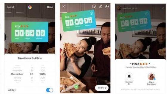 Instagram, ora puoi rispondere con la musica e fare il conto alla rovescia