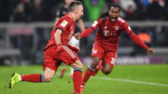 Germania, Ribery trascina il Bayern: 1-0 al Lipsia e Dortmund più vicino