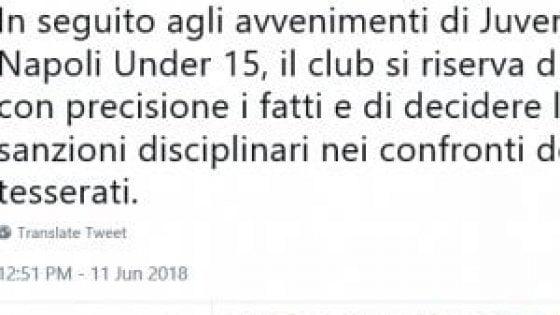 Juventus Under 15, 25 giocatori squalificati per i cori anti-Napoli