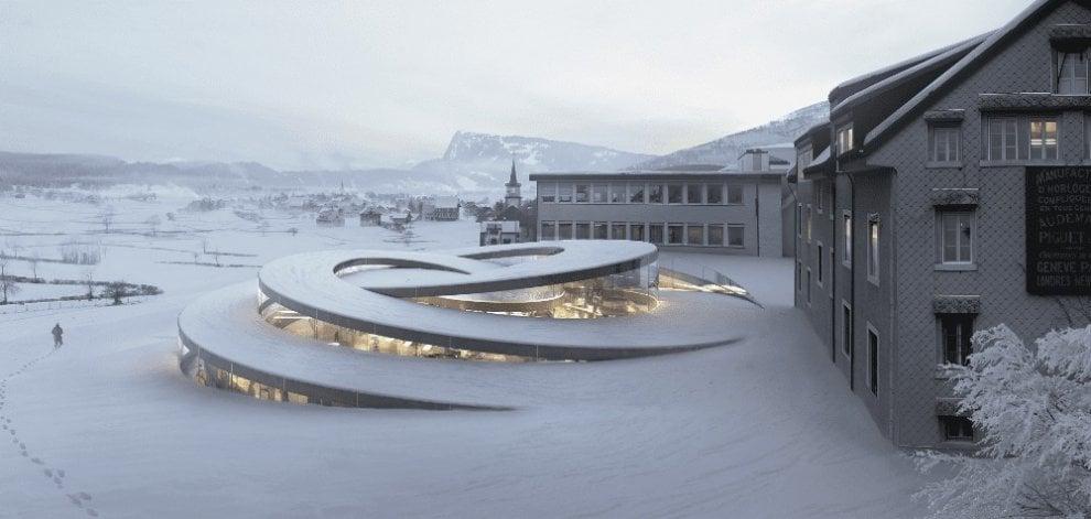 Svizzera. Sulla neve, sci ai piedi, direttamente dalla camera: l'albergo è già una pista