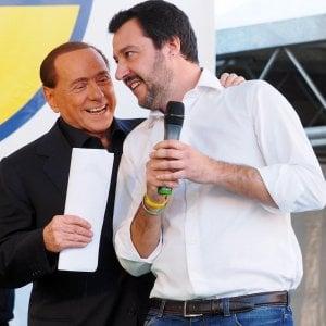 """E' Berlusconi (a sinistra, con Matteo Salvini) il """"padre"""" delle clausole di salvaguardia"""