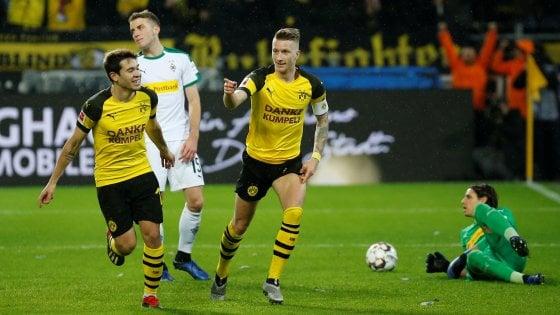 Germania, Dortmund sempre più leader: 2-1 al Moenchengladbach