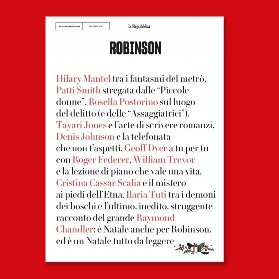 Su Robinson un Natale tutto da leggere