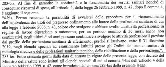 """Manovra, via libera anche a chi esercita professioni sanitarie senza titolo. Le associazioni: """"Assurdità totale"""""""