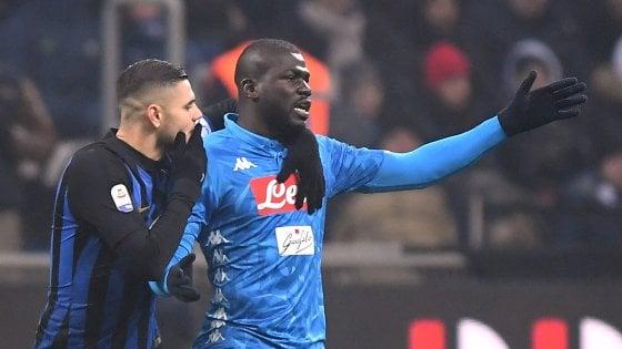 """Cori contro Koulibaly, l'Inter: """"Razzisti fuori dalla nostra storia"""". Cristiano Ronaldo: """"No alla discriminazione''"""