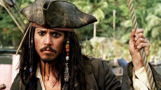 Johnny Depp alias Jack Sparrow in visita ai giovani pazienti dell'Institut Curie