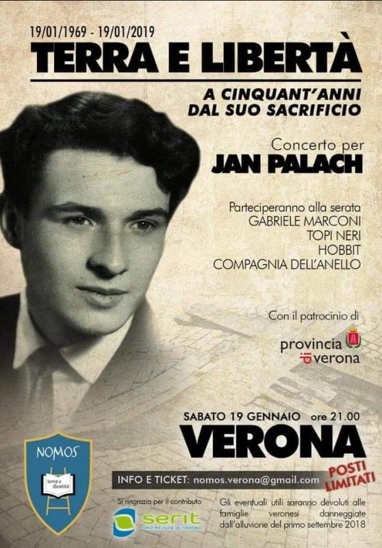 Provocazione sovranista a Verona: un concerto nazirock per Jan Palach